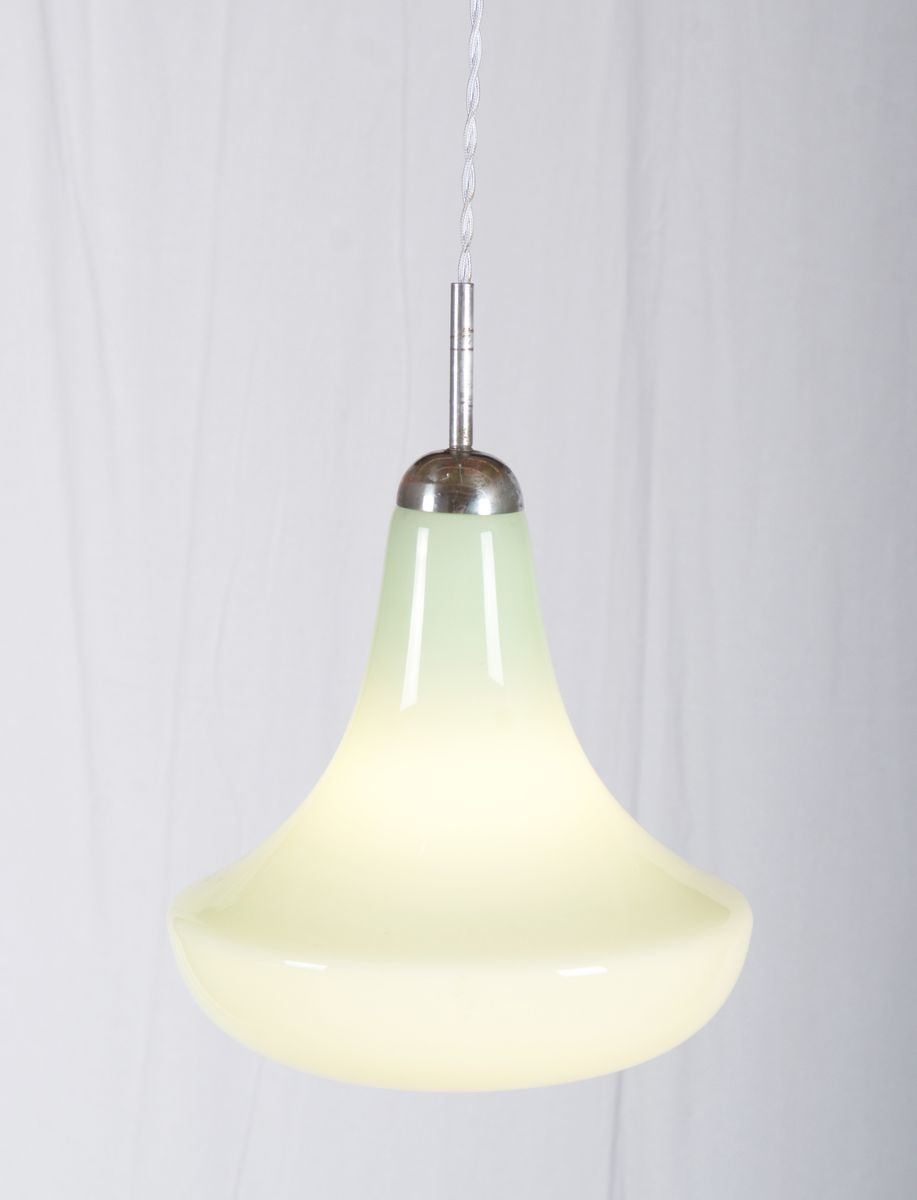 mid century glass pendant light. Black Bedroom Furniture Sets. Home Design Ideas