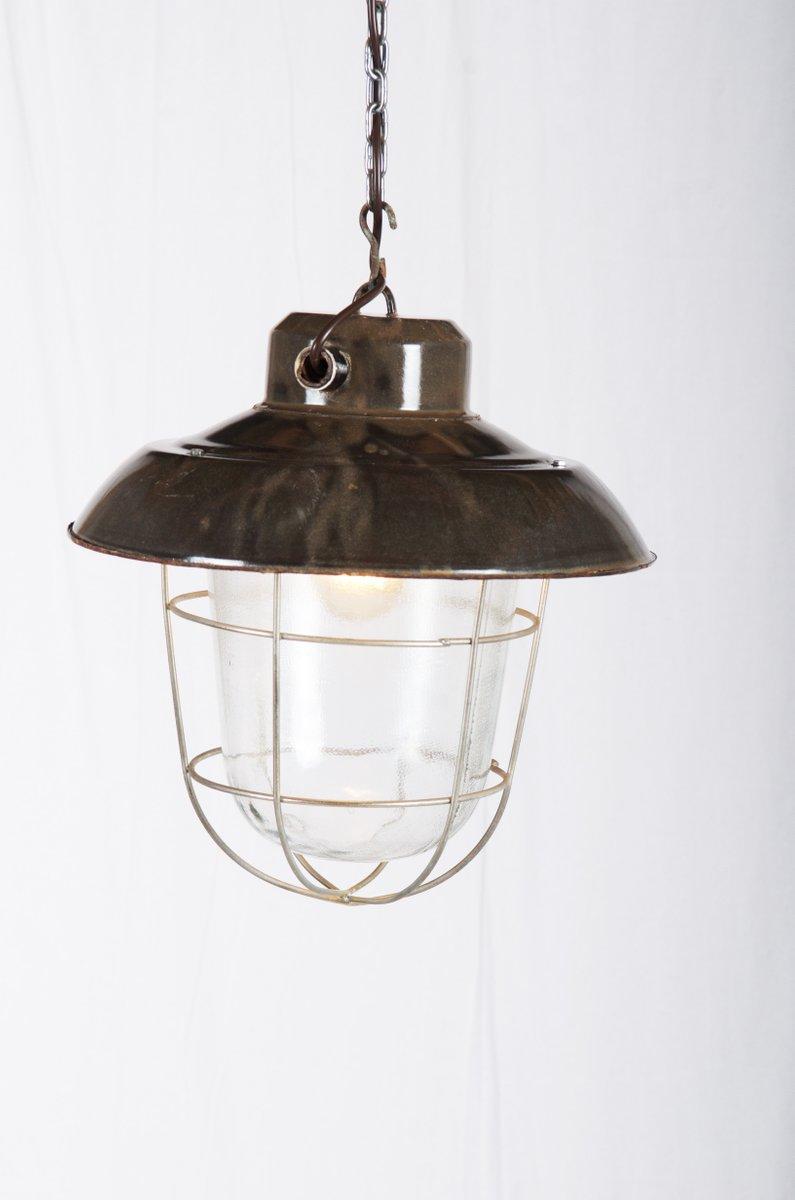 vintage industrial factory hanging lamp for sale at pamono. Black Bedroom Furniture Sets. Home Design Ideas