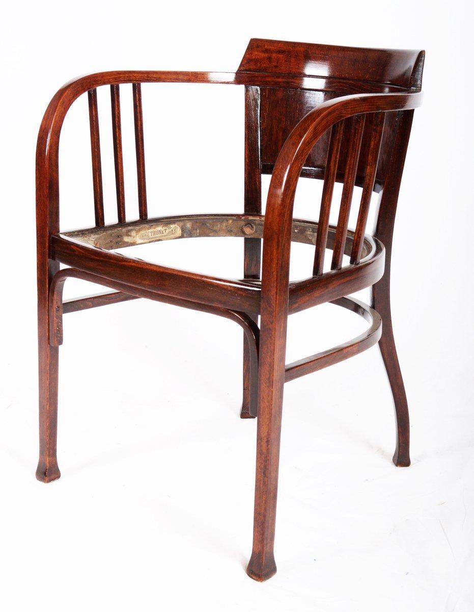 sedia in faggio di otto wagner per thonet 1905 in vendita