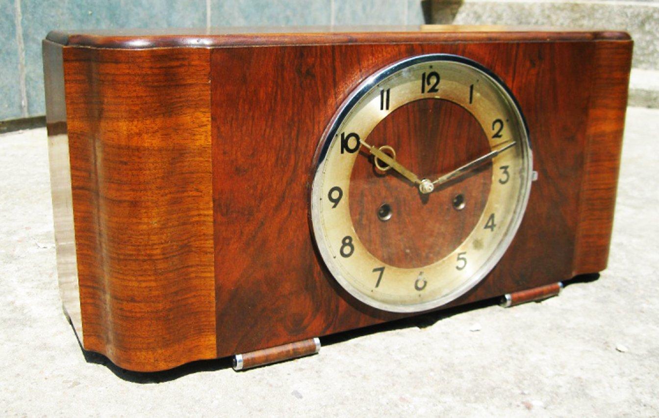 art deco mantel clock from junghans - Mantel Clock
