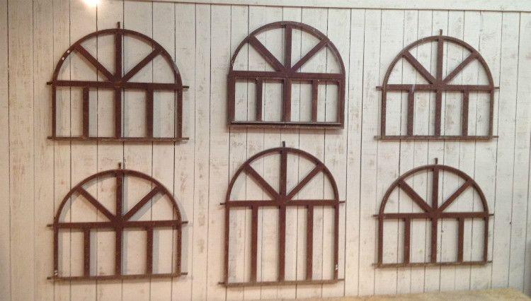 orangerie runde fenster aus eisen 6er set bei pamono kaufen. Black Bedroom Furniture Sets. Home Design Ideas