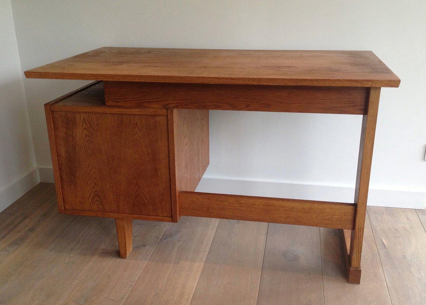 vintage eichen schreibtisch 1960er bei pamono kaufen. Black Bedroom Furniture Sets. Home Design Ideas