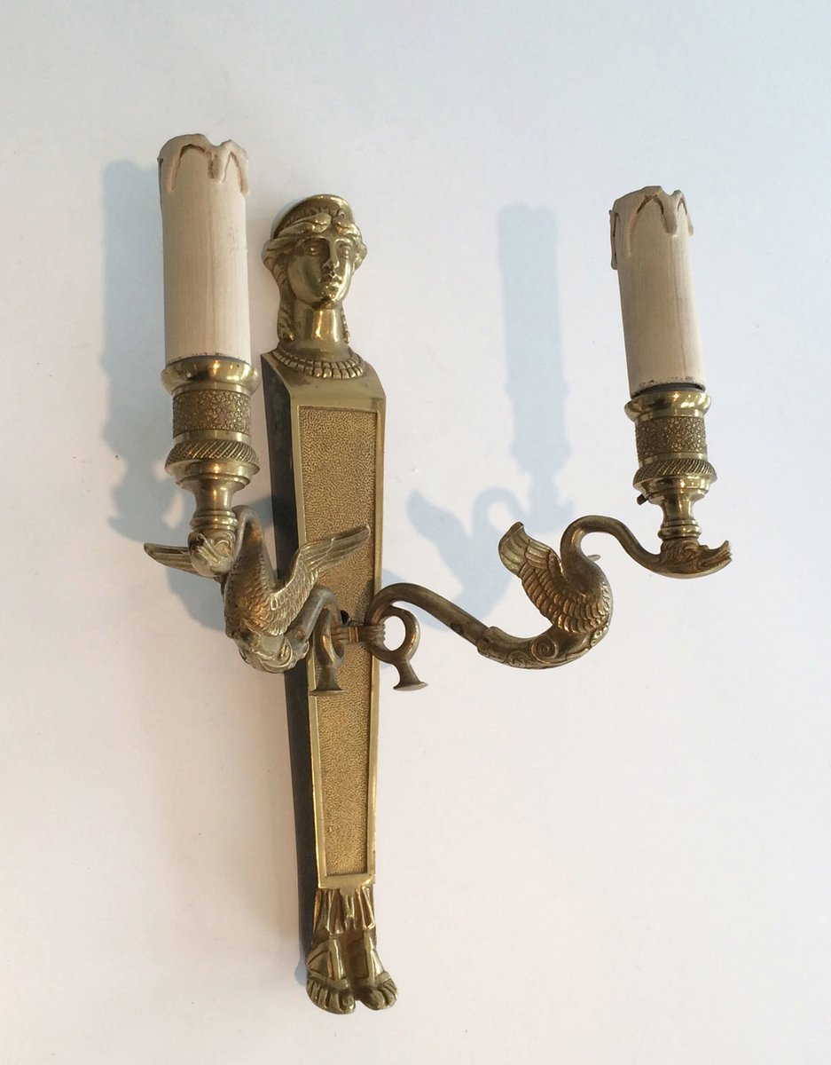 Wall Sconces Set Of 2 : French Bronze Wall Sconces, Set of 2 for sale at Pamono