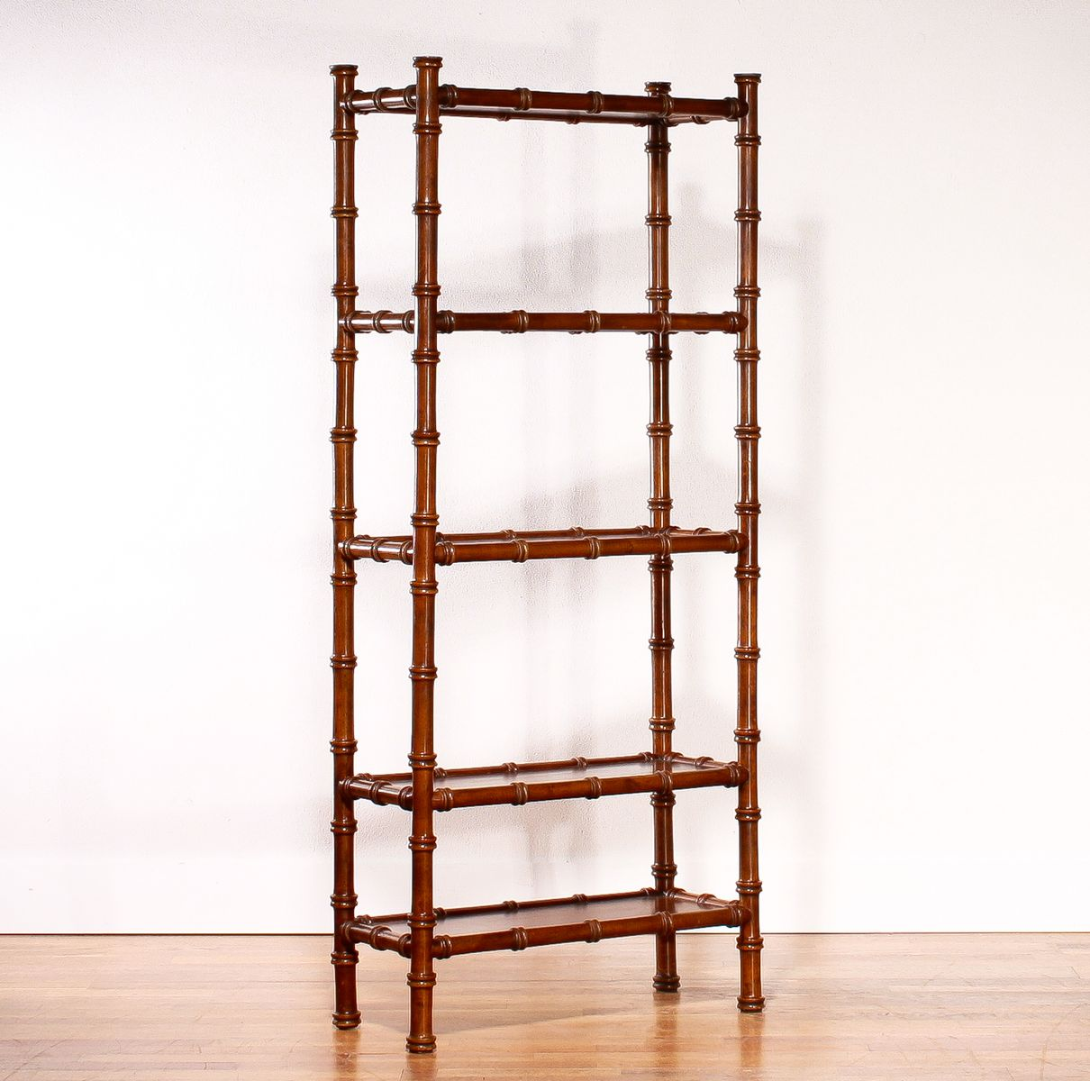 Vintage Faux Bamboo Bookcase