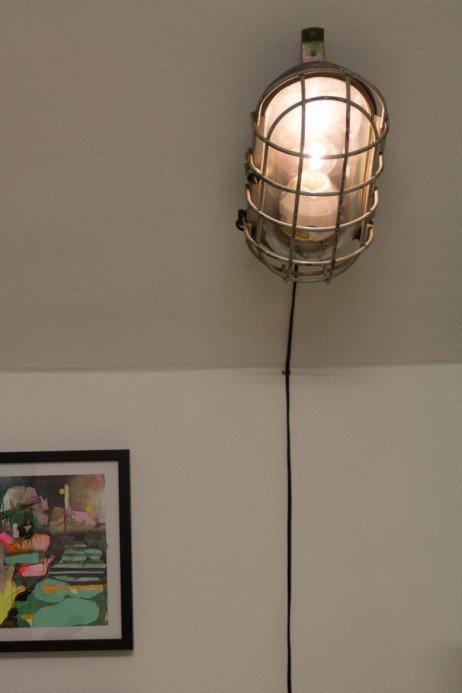 grande lampe murale sea turtle industrielle en vente sur pamono. Black Bedroom Furniture Sets. Home Design Ideas