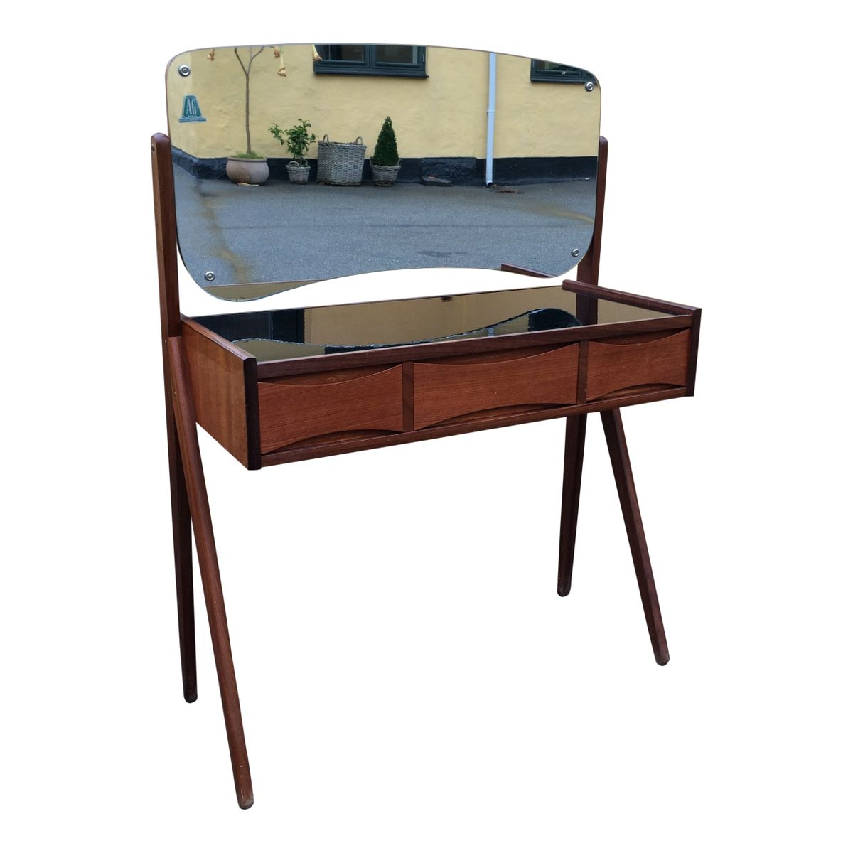 verspiegelter mid century schminktisch 1960er bei pamono. Black Bedroom Furniture Sets. Home Design Ideas