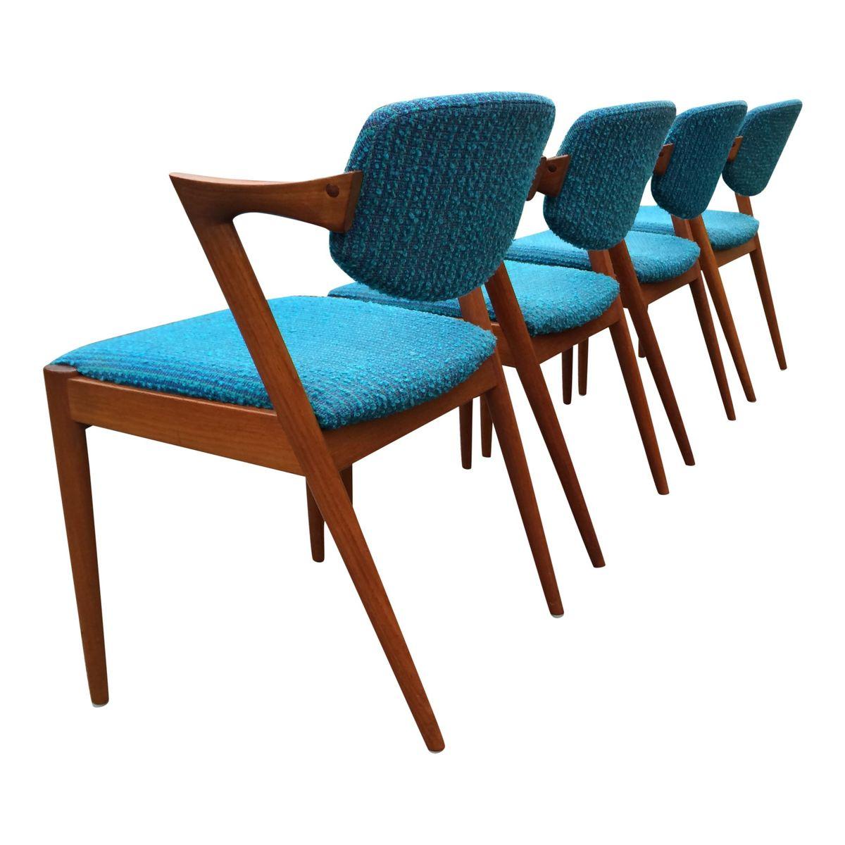 42 esszimmerst hle in t rkis von kai kristiansen f r schou. Black Bedroom Furniture Sets. Home Design Ideas