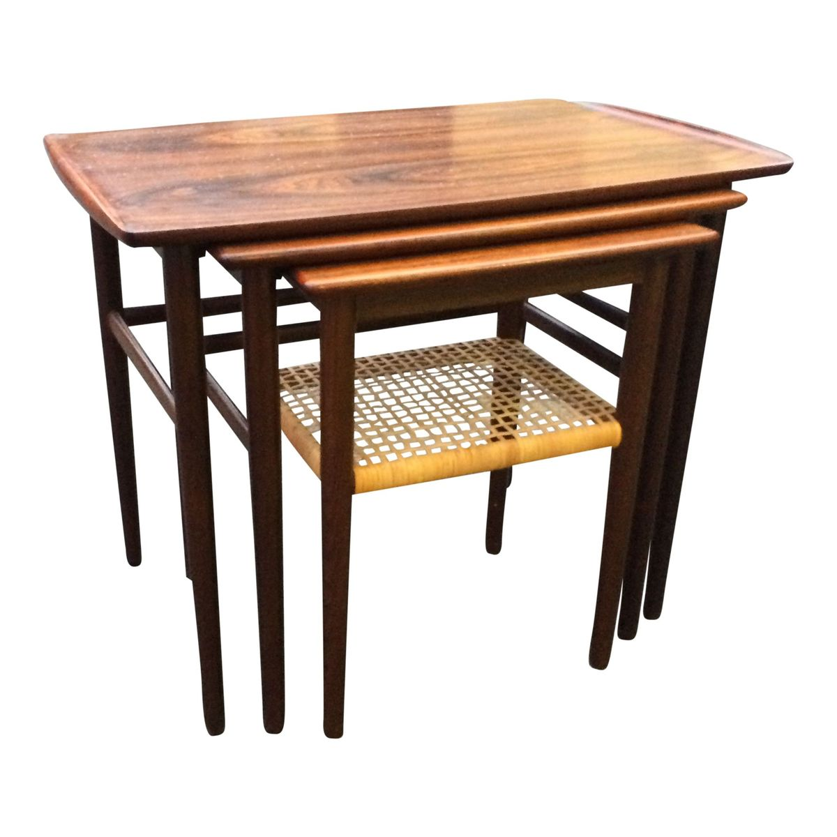Vintage Nesting Tables ~ Vintage rosewood nesting tables set of for sale at pamono