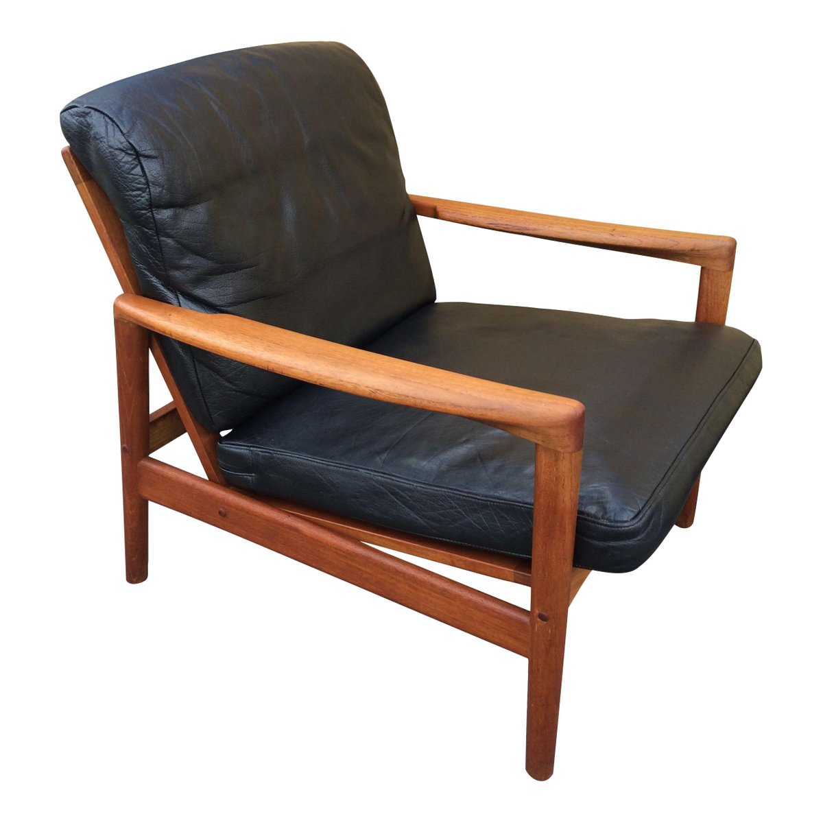 Vintage Danish Teak Easy Chair for sale at Pamono