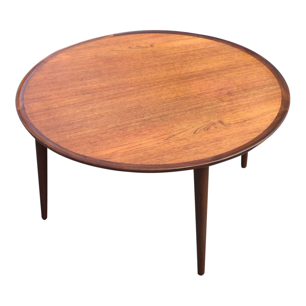 Scandinavian Teak Coffee Table: Danish Round Teak Coffee Table For Sale At Pamono