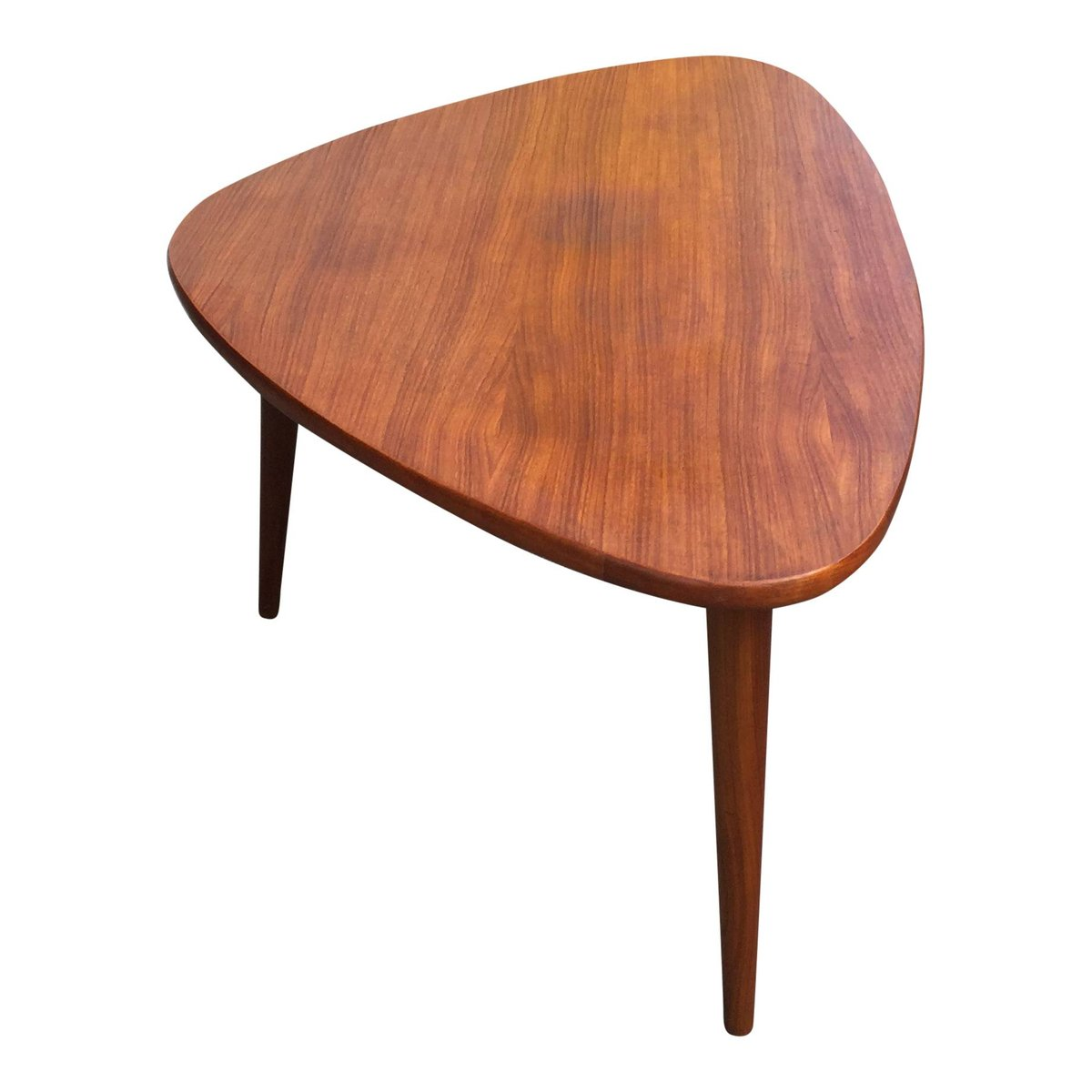 Mid-Century Triangular Teak Coffee Table For Sale At Pamono
