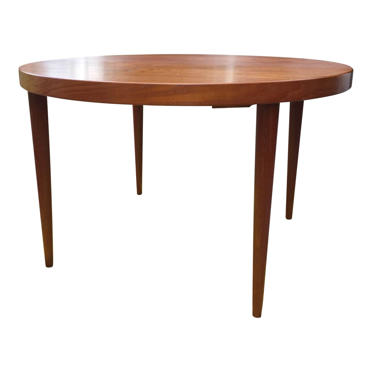 Round Teak Dining Table By Kai Kristiansen For Sale At Pamono