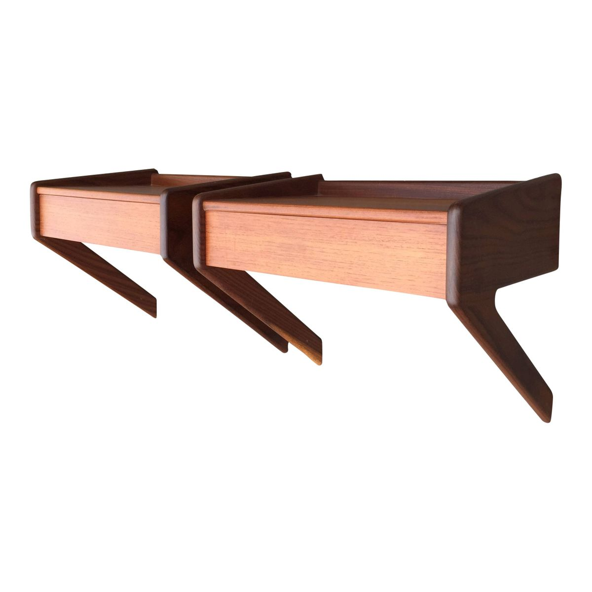 wall mounted bedside shelves from lholm m belfabrik set