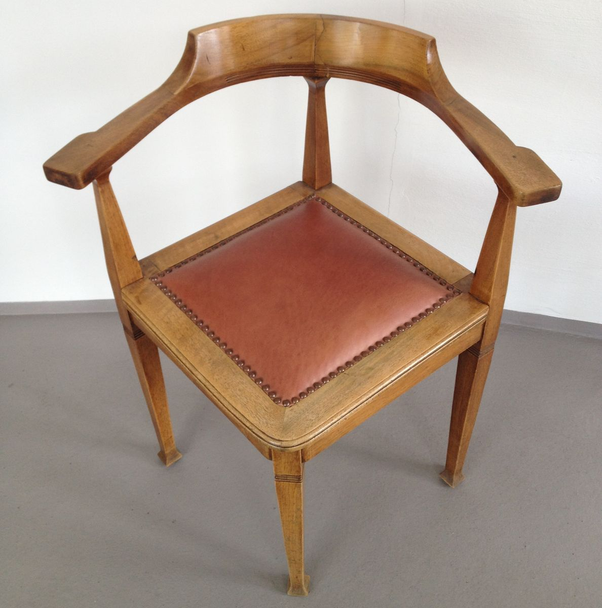 antique captain 39 s chair corner chair 1910 for sale at pamono