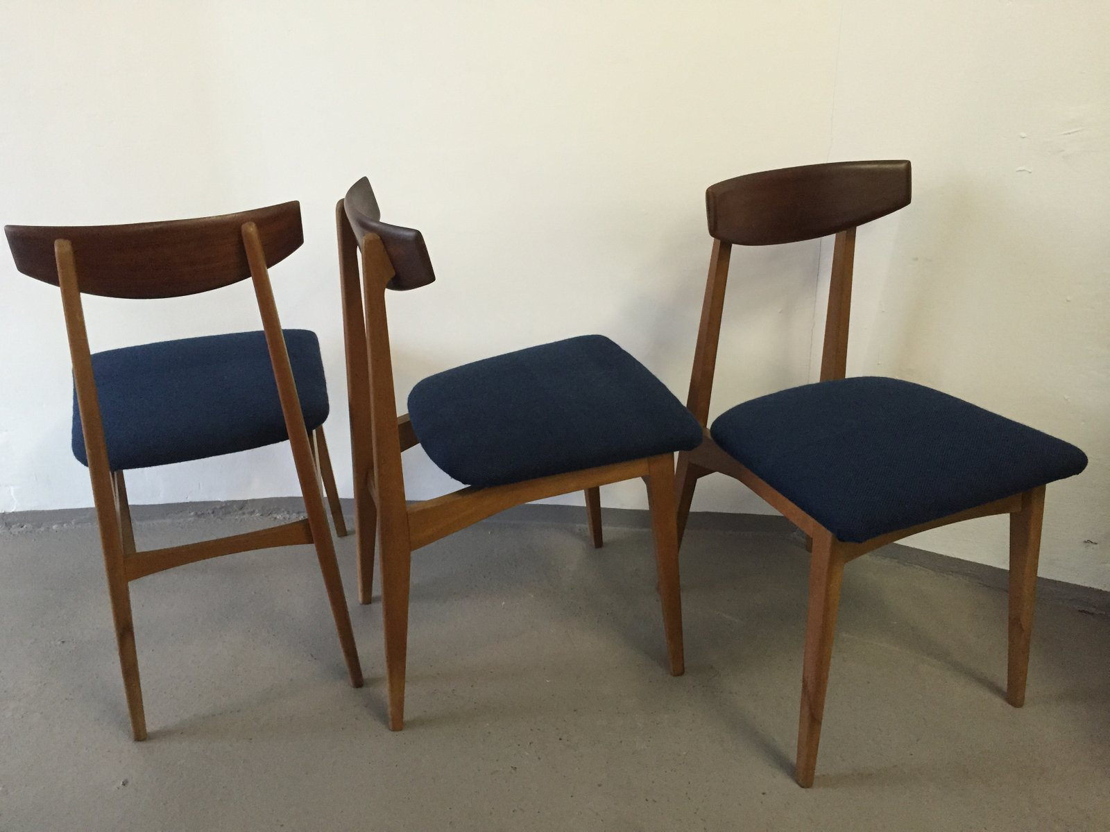 Vintage Teak Dining Chairs Set Of 3 For Sale At Pamono