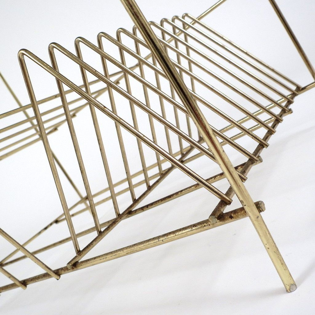 beistelltisch aus metall 1950er bei pamono kaufen. Black Bedroom Furniture Sets. Home Design Ideas