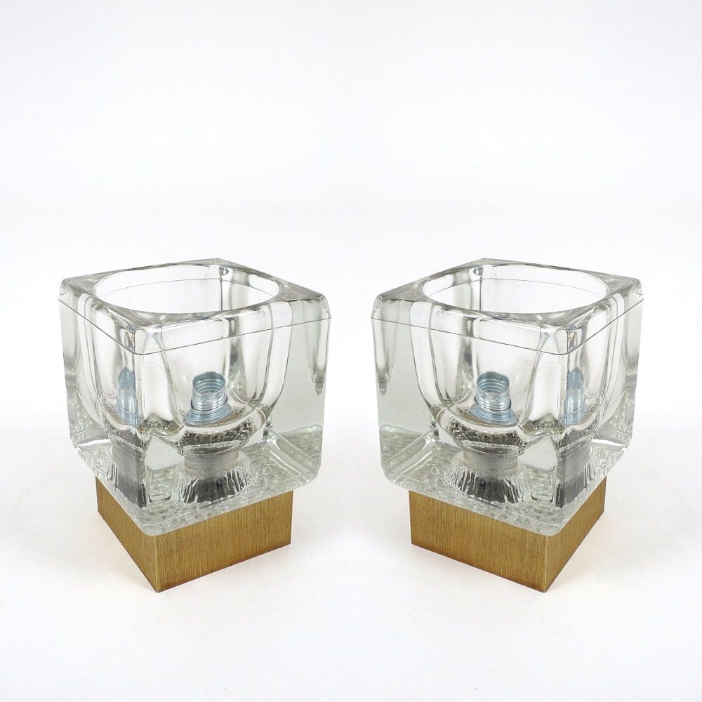 dutch glass and brass wall lights 1960s set of 2 for sale at pamono. Black Bedroom Furniture Sets. Home Design Ideas