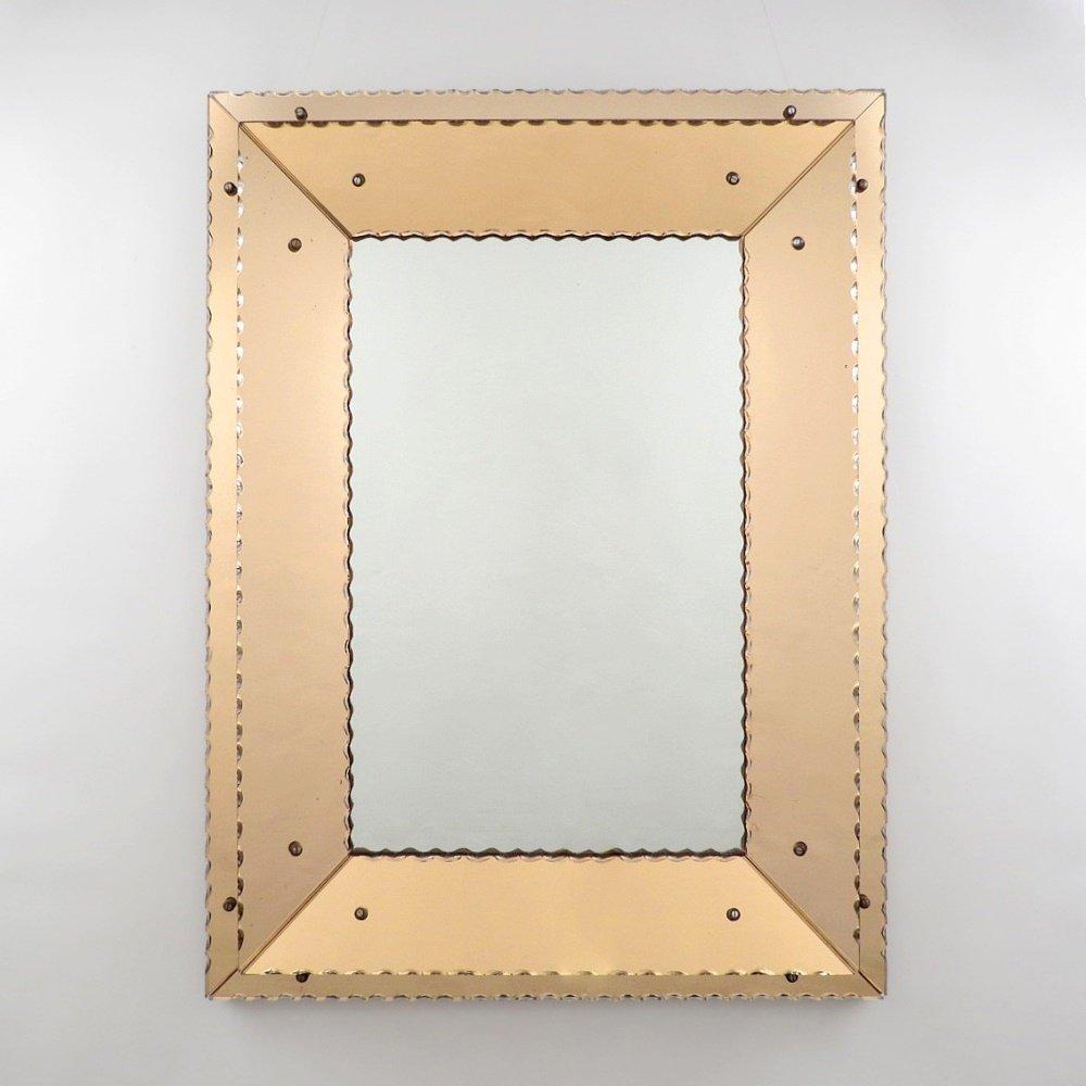 Belgischer art deco spiegel bei pamono kaufen - Deco spiegel ...