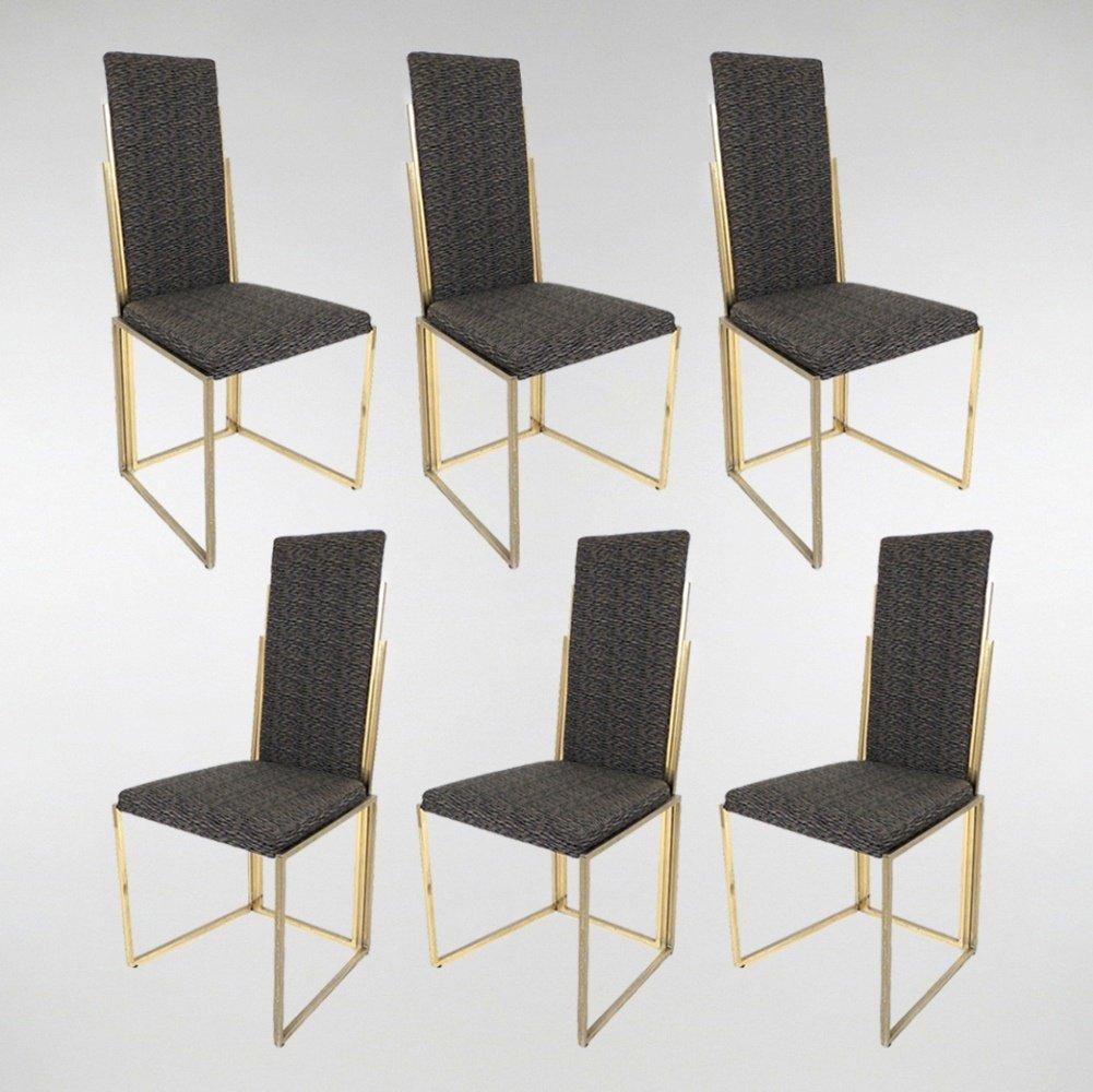 belgische messing esszimmerst hle 6er set bei pamono kaufen. Black Bedroom Furniture Sets. Home Design Ideas