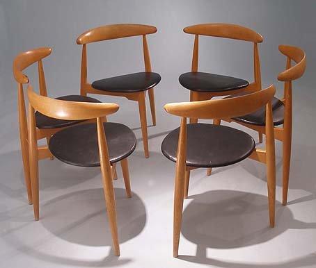 heart chair dining set by hans j wegner