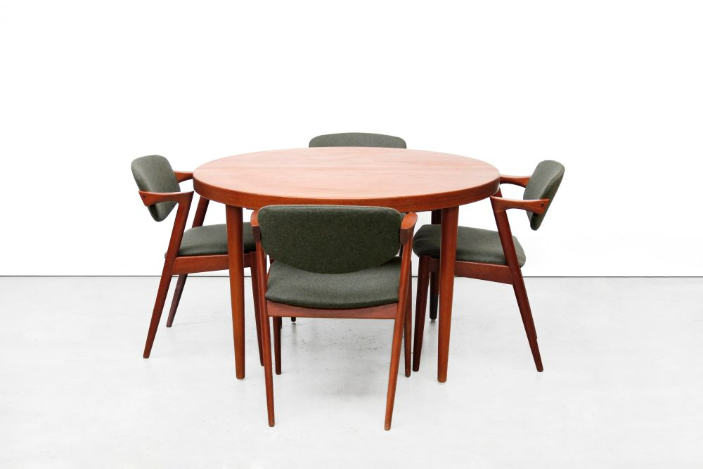 danish dining set by kai kristiansen 1950s for sale at pamono