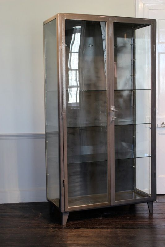Vintage steel display cabinets 1940s set of 2 for sale for 1940s kitchen cabinets for sale