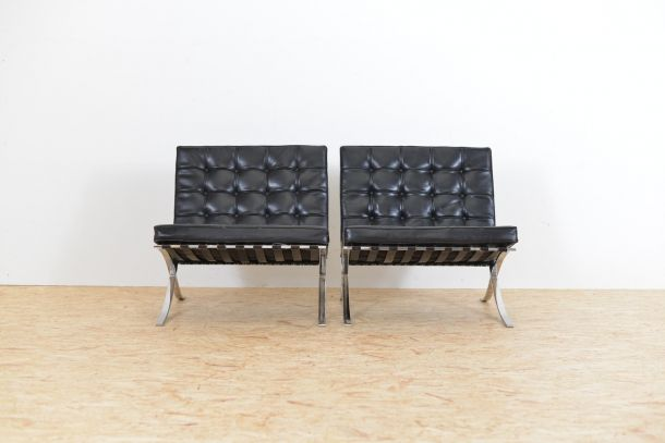 barcelona sessel von ludwig mies van der rohe f r knoll. Black Bedroom Furniture Sets. Home Design Ideas