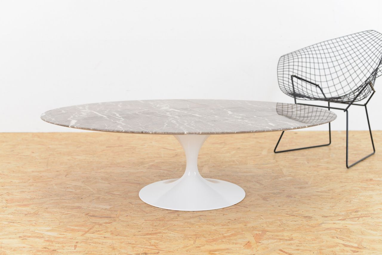 Tulip Marble Coffee Table By Eero Saarinen For Knoll For Sale At Pamono