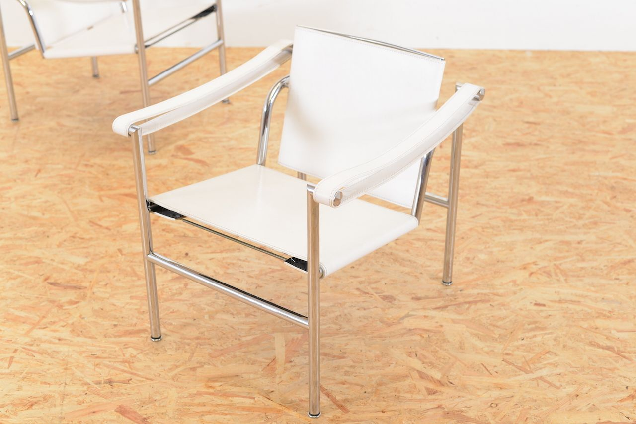 Lc1 armchairs by le corbusier for cassina set of 2 for - Chaise lc1 le corbusier ...
