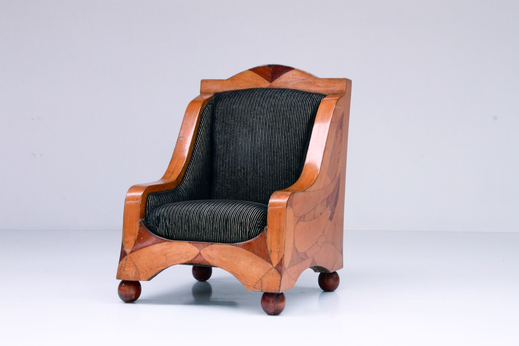 german biedermeier fauteuil chair for sale at pamono. Black Bedroom Furniture Sets. Home Design Ideas