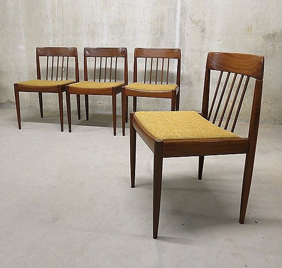 danish dining chairs 1950s set of 4 for sale at pamono