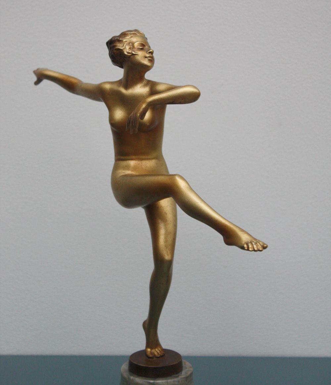 Art Deco Bronze Statue by Josef Lorenzl, ca 1930 for sale