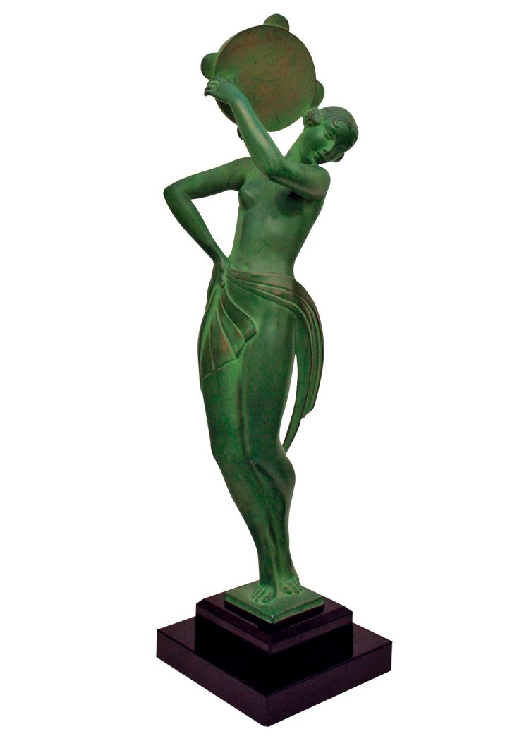 Farandole art deco metal sculpture by fayral 1930s for for Miroir art deco 1930