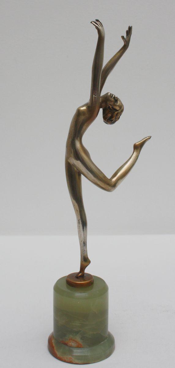 arabesque art deco bronze statue by josef lorenzl ca 1930 for sale at pamono. Black Bedroom Furniture Sets. Home Design Ideas