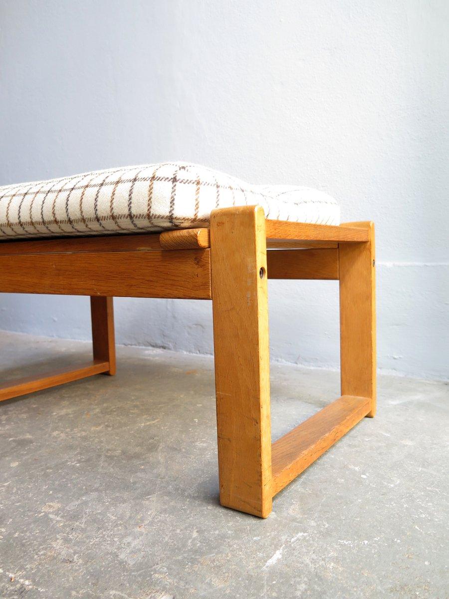 d nischer sessel aus eichenholz mit hocker 1950er bei. Black Bedroom Furniture Sets. Home Design Ideas