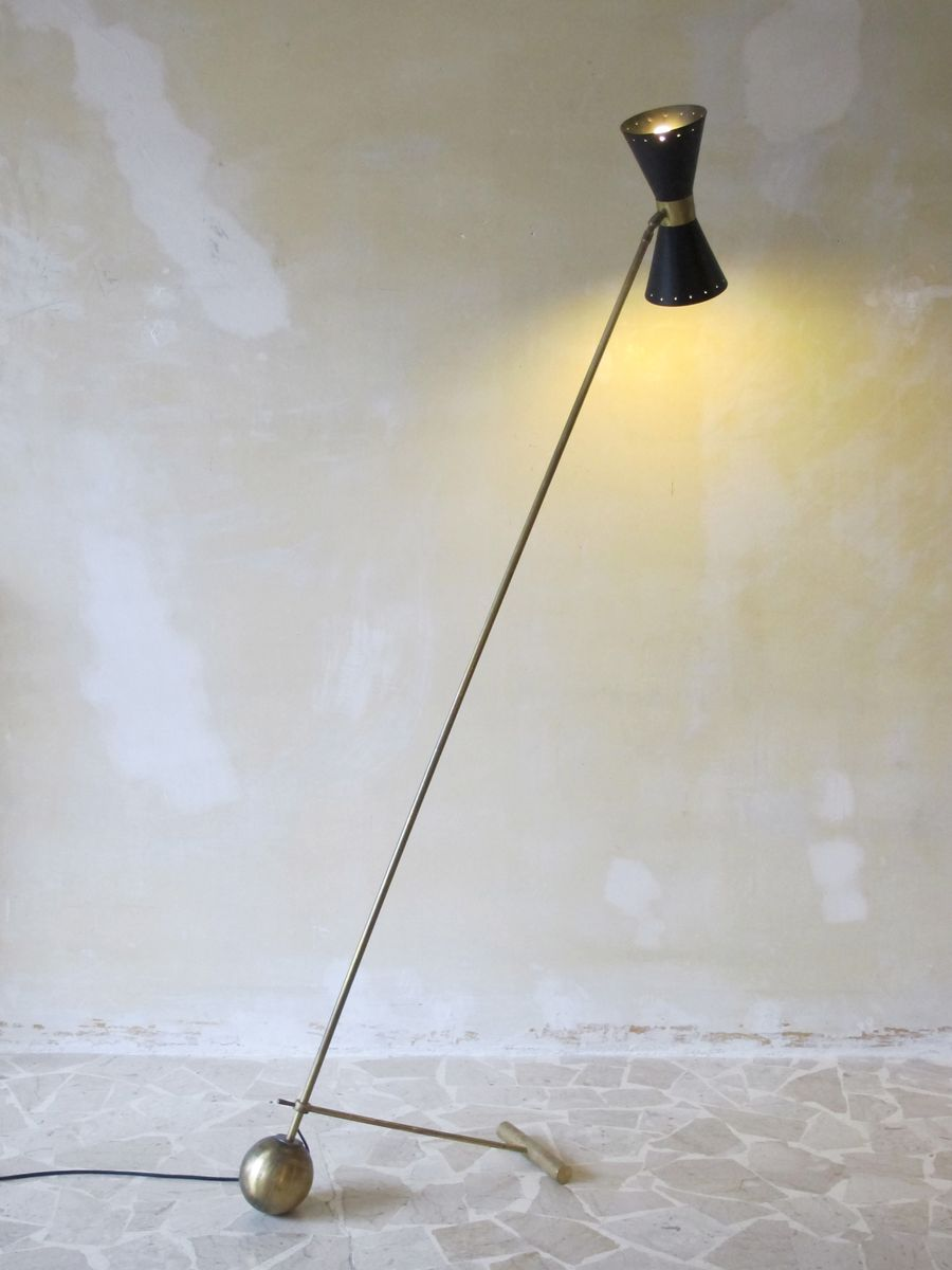Italian brass floor lamp 1950s for sale at pamono for 1950 s brass floor lamp