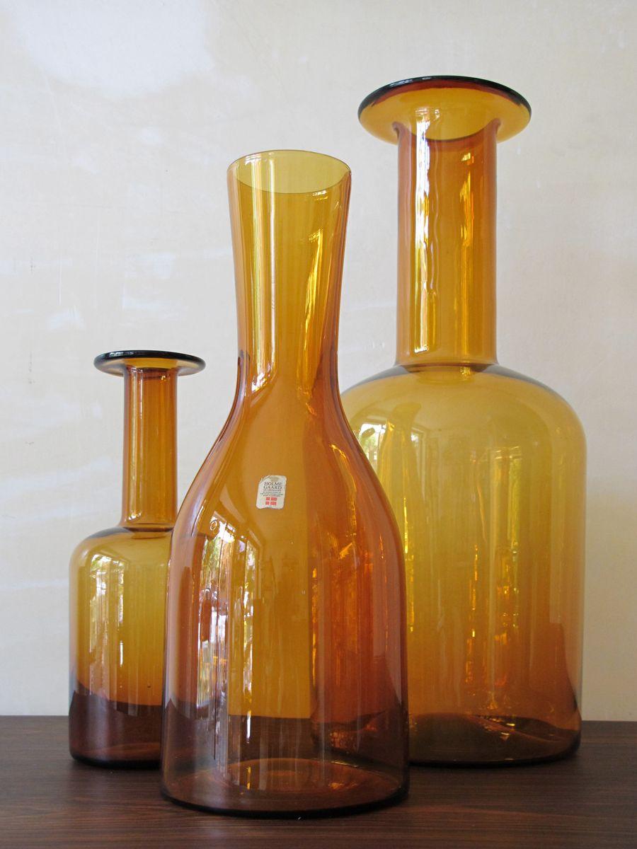 Vasen von otto brauer f r holmegaard 3er set 1960er bei for Otto vasen