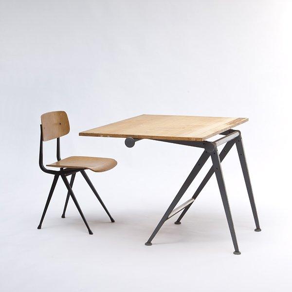 zeichentisch stuhl von wim rietveld bei pamono kaufen. Black Bedroom Furniture Sets. Home Design Ideas