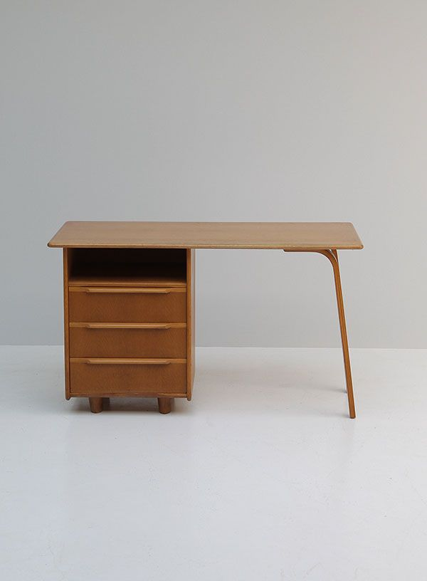 EE02 Oak Desk by Cees Braakman for Pastoe, 1950s