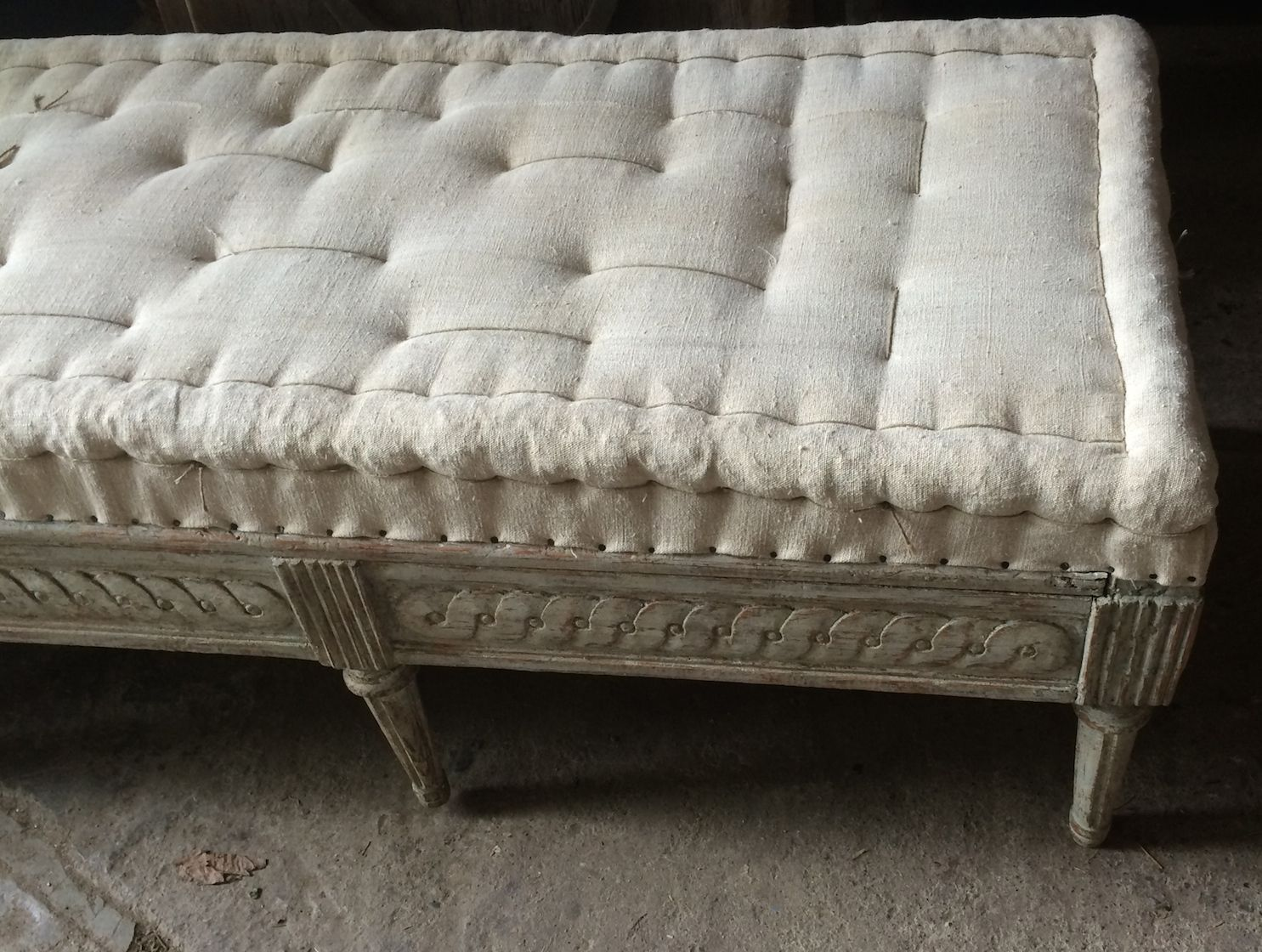 Antique swedish sofa stool 19th century for sale at pamono for Sofa 4 meter