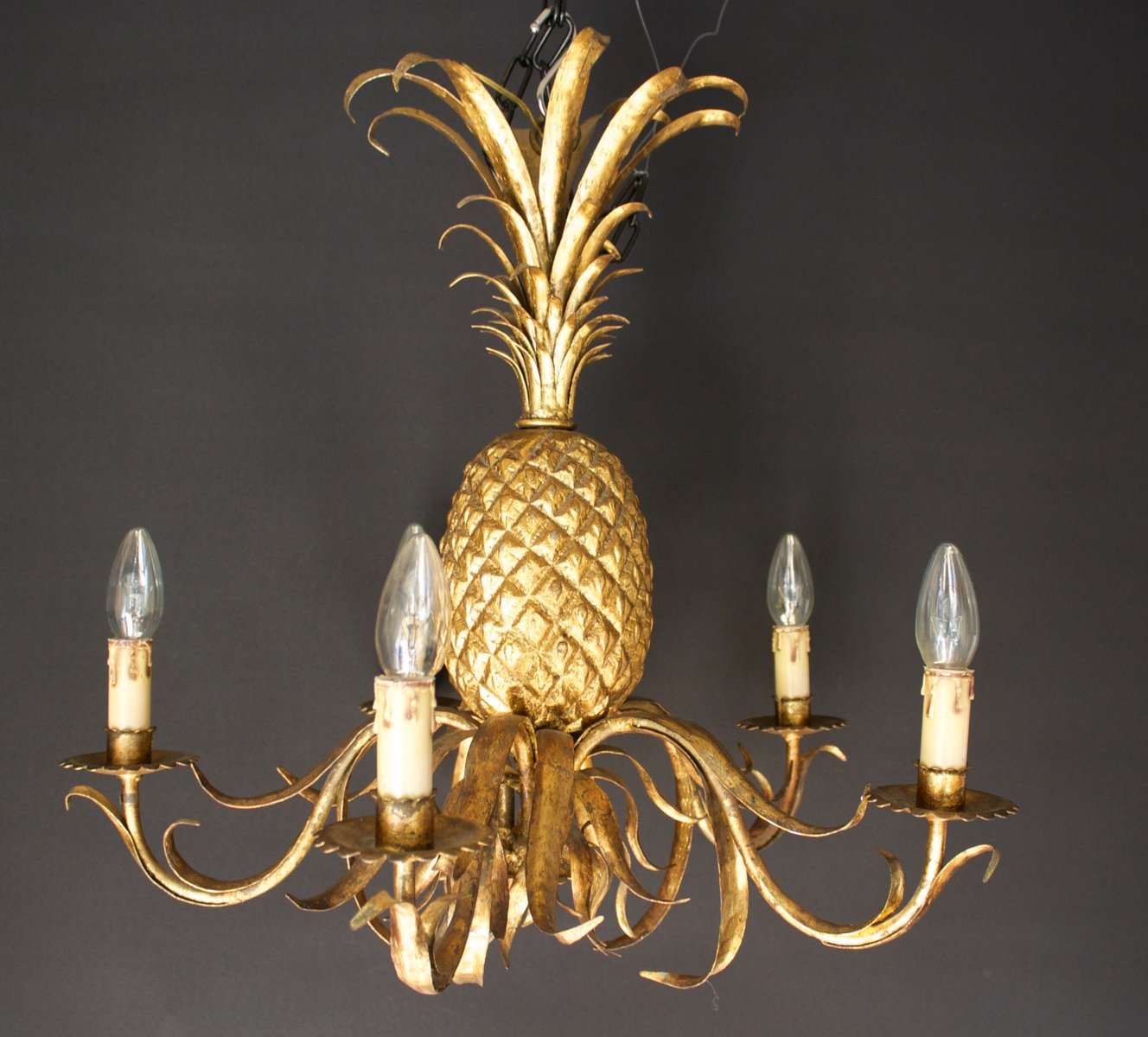 vintage pineapple chandelier for sale at pamono. Black Bedroom Furniture Sets. Home Design Ideas