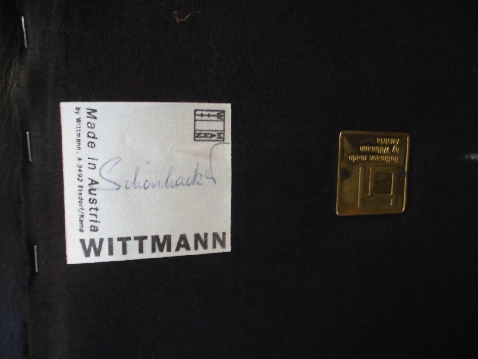 kubus sofa von josef hoffmann f r wittmann 1980er bei pamono kaufen. Black Bedroom Furniture Sets. Home Design Ideas
