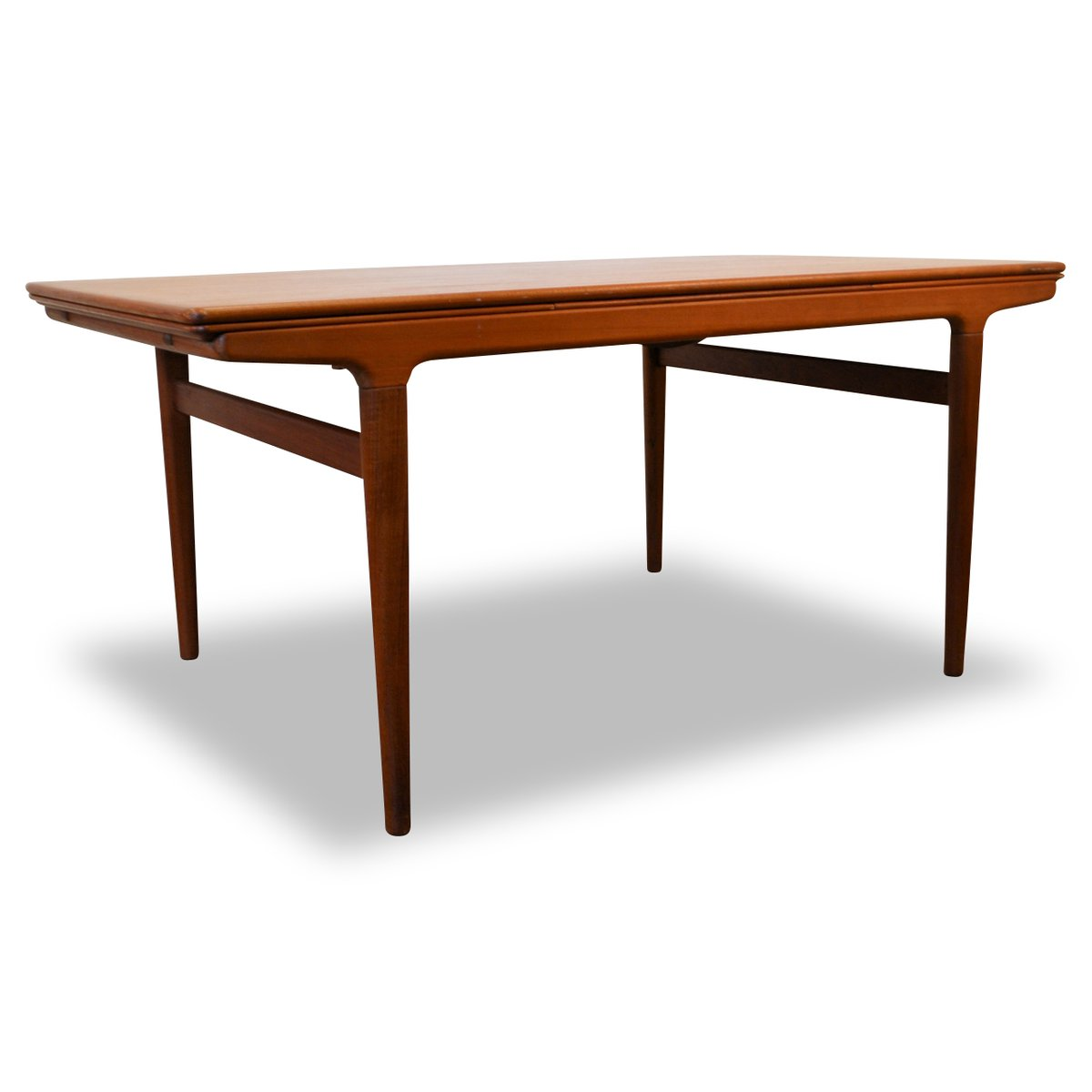 vintage teak extendable dining table by johannes andersen for uldum m belfabrik for sale at pamono. Black Bedroom Furniture Sets. Home Design Ideas