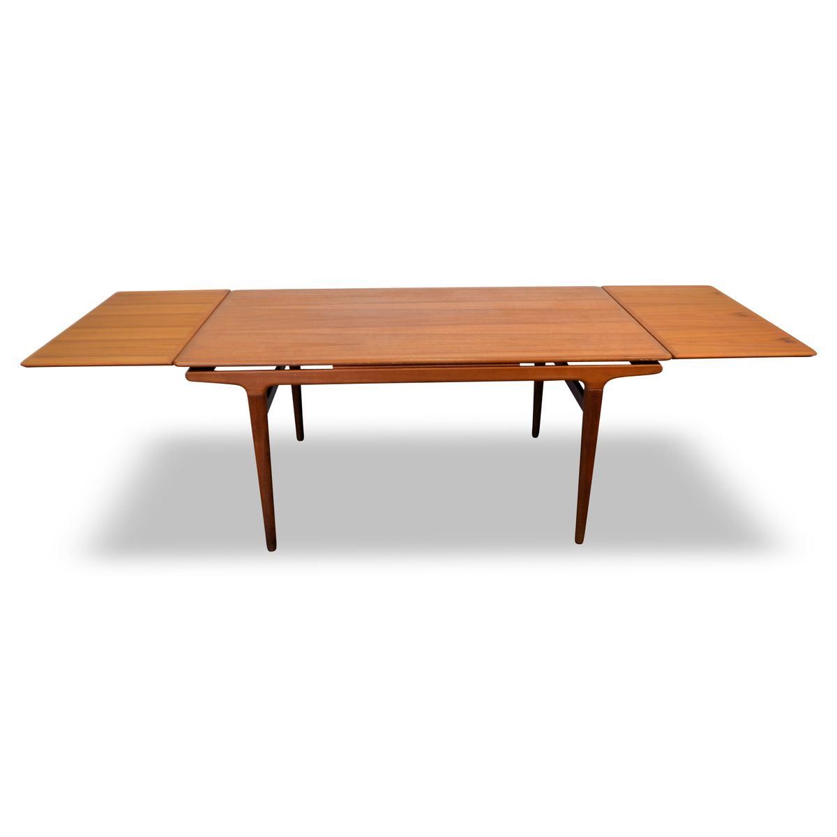 Vintage Teak Extendable Dining Table by Johannes Andersen  : vintage teak extendable dining table by johannes andersen for uldum mobelfabrik 7 from www.pamono.com size 1200 x 1200 jpeg 31kB