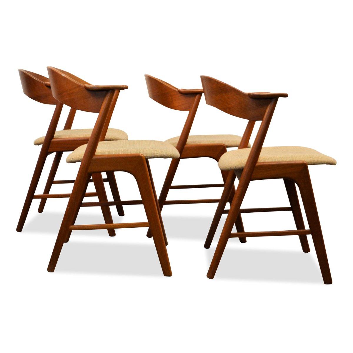 midcentury dining chairs by kai kristiansen for ks møbler set  - midcentury dining chairs by kai kristiansen for ks møbler set of