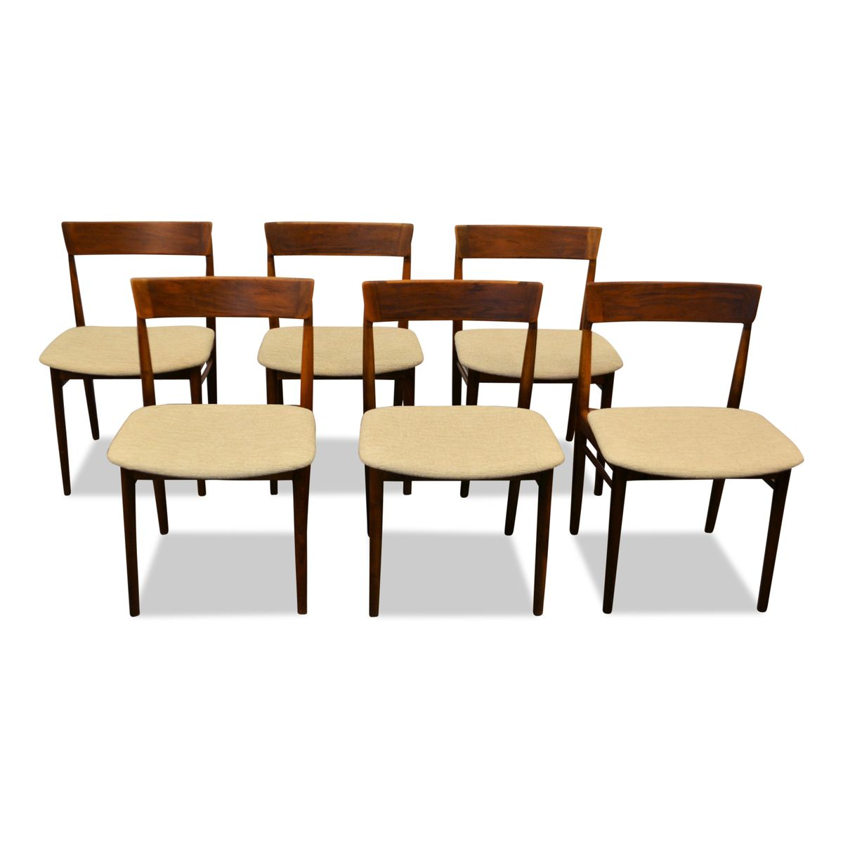 Mid Century Rosewood Dining Chairs By Henry Rosengren For