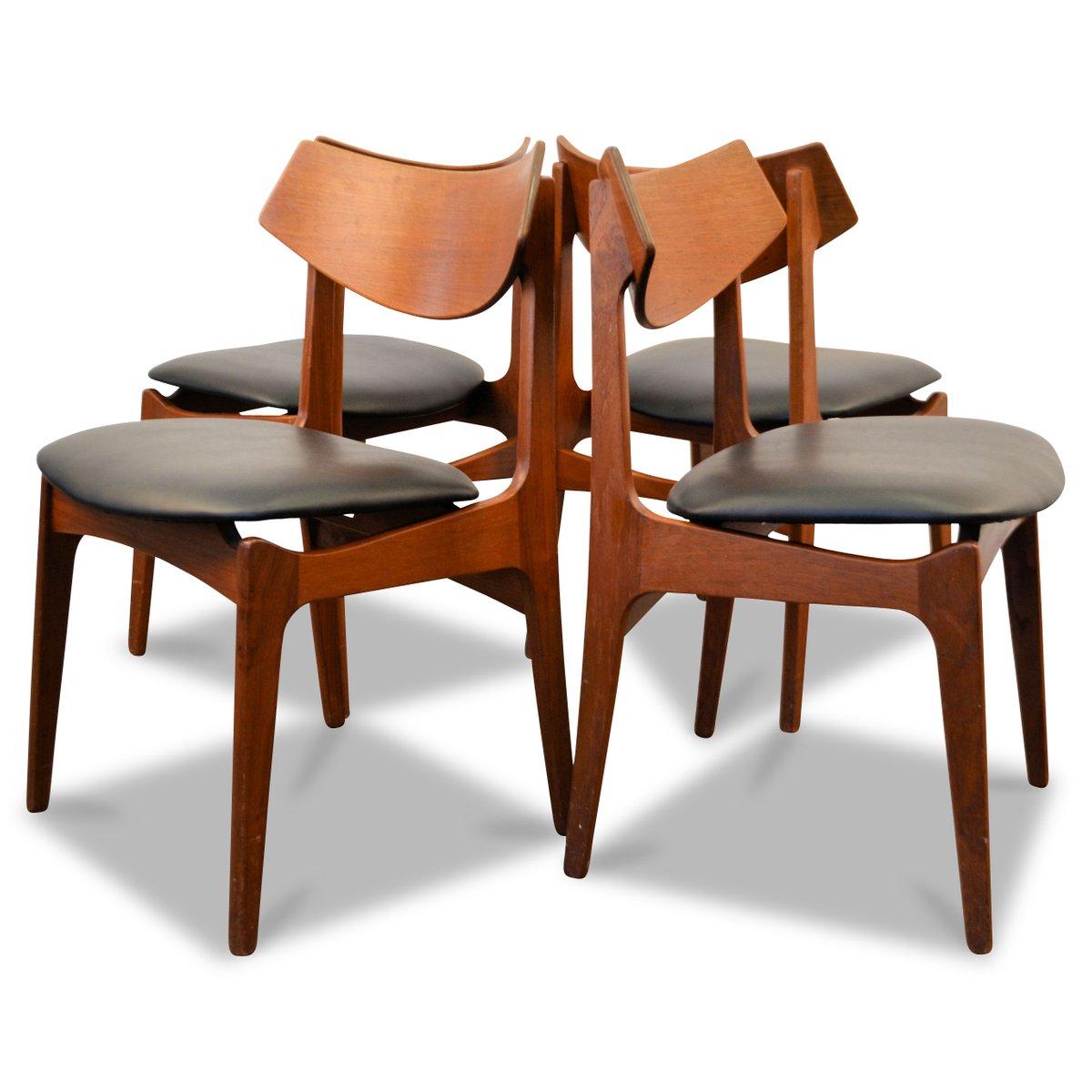 Danish teak dining chairs from funder schmidt madsen