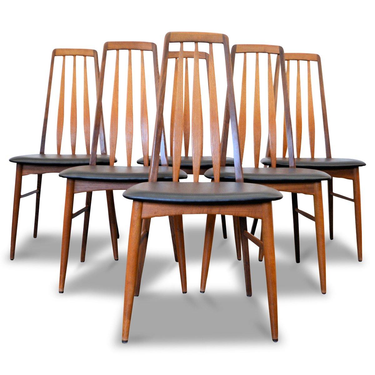Chaises de salle manger eva par niels koefoed pour for Chaise salle a manger par 6