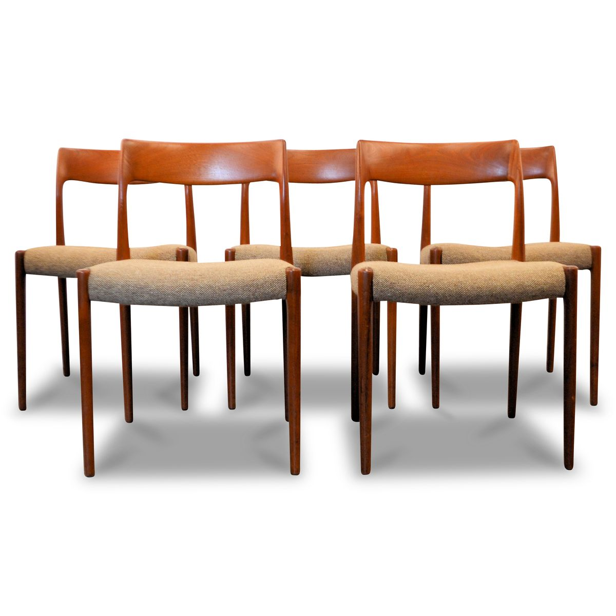 Good Nr. 77 Teak Dining Chairs By Niels O. Møller For J.L. Møller, 1960s, Set Of  5 For Sale At Pamono