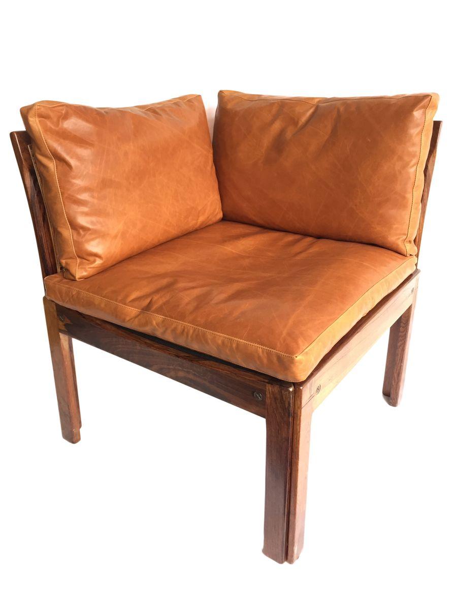 Brazilian Rosewood Corner Chairs by Illum Wikkelso, Set of 2